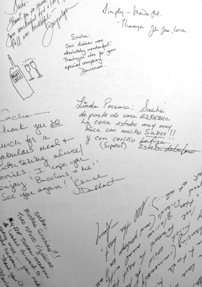 Guestbook for Two Cooks in Tuscany cooking school
